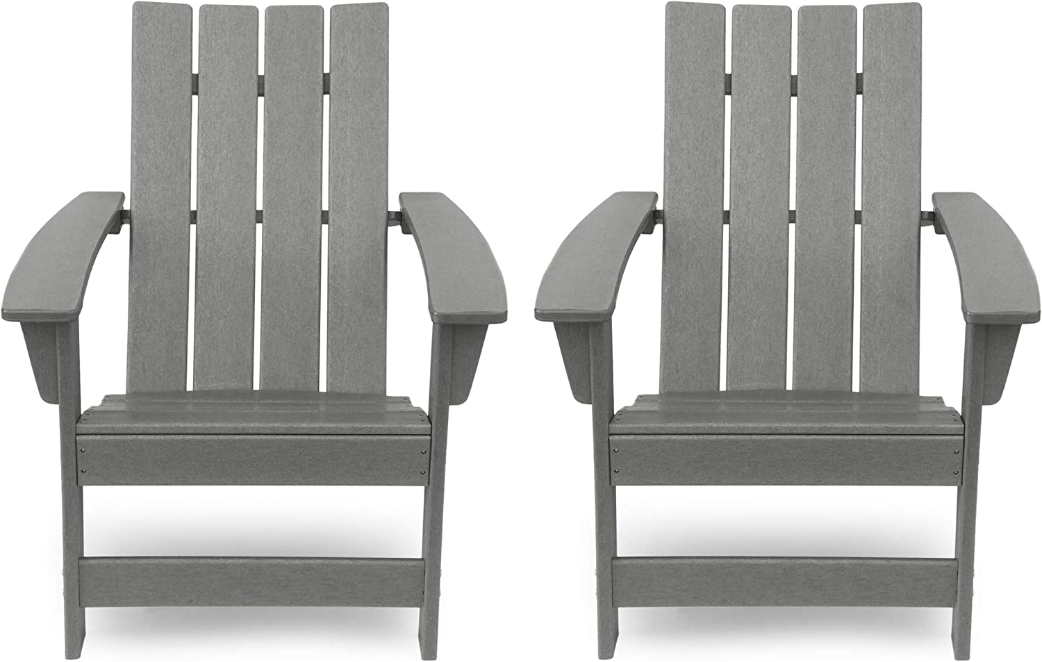 Christopher Knight Home 312639 Robert Outdoor Contemporary Adirondack Chair (Set of 2), Gray