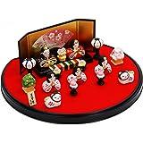 錦彩花かざり雛 陶器 雛人形 ひな人形 水琴鈴特典付オリジナル雛人形 雛 ミニ 雛飾り 初節句 雛まつり