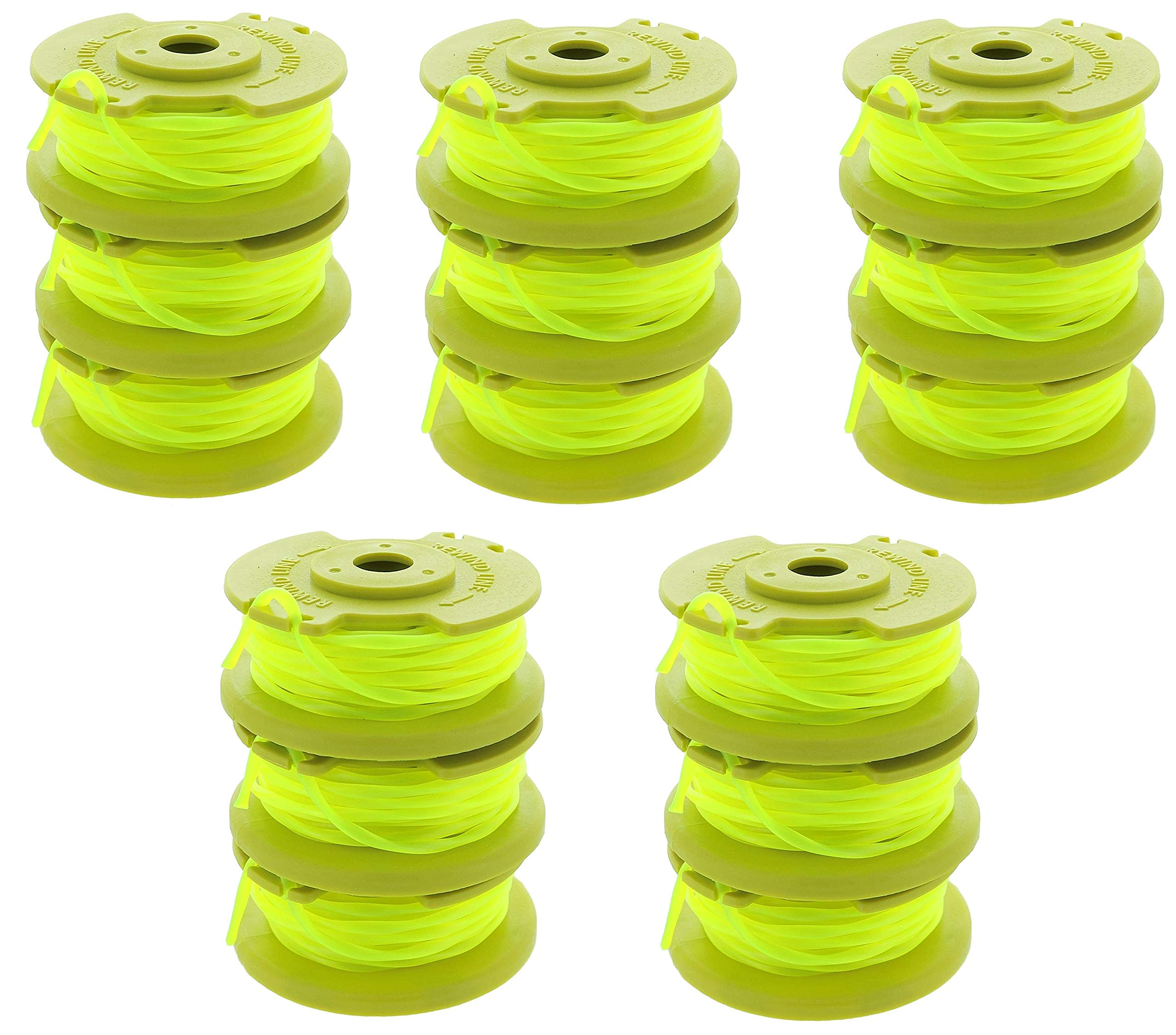 Ryobi One PLUS+ AC80RL3 OEM .080 Inch Twisted Line and Spool Replacement for Ryobi 18v, 24v, and 40v Cordless Trimmers (Pack of 15) by Ryobi