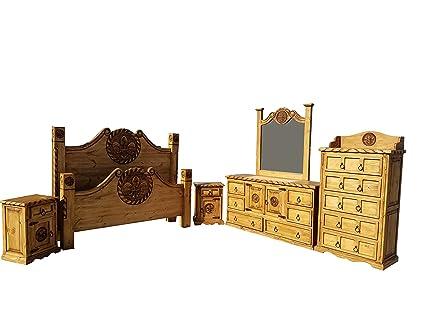 Etonnant Hi End The Fleur De Lis Rustic Bedroom Set With Rope Accents 6 Piece