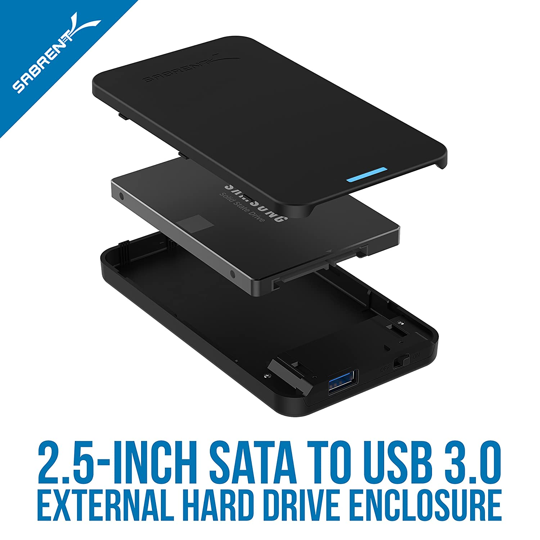 sabrent 2 5 inch sata to usb 3 0 tool free external