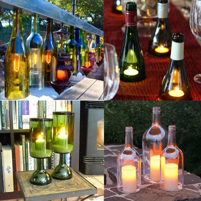 Weise mit zu recyceln gelb stabile Kit f/ür DIY Creative Geschenke Kerzenhalter Ornaments Wiederverwendung Bier Wein Flasche Flasche//Glas Cutter f/ür Flaschen von 43/bis 103/mm