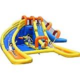 Mega Fun 24ft Water Park Bouncy Castle Inflatable Twin Water Slide