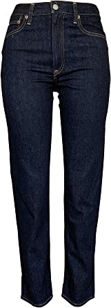 Amazon Com Polo Ralph Lauren Jeans Para Mujer The Waverly Straight Hight Rise Crop Jean Straight Clothing