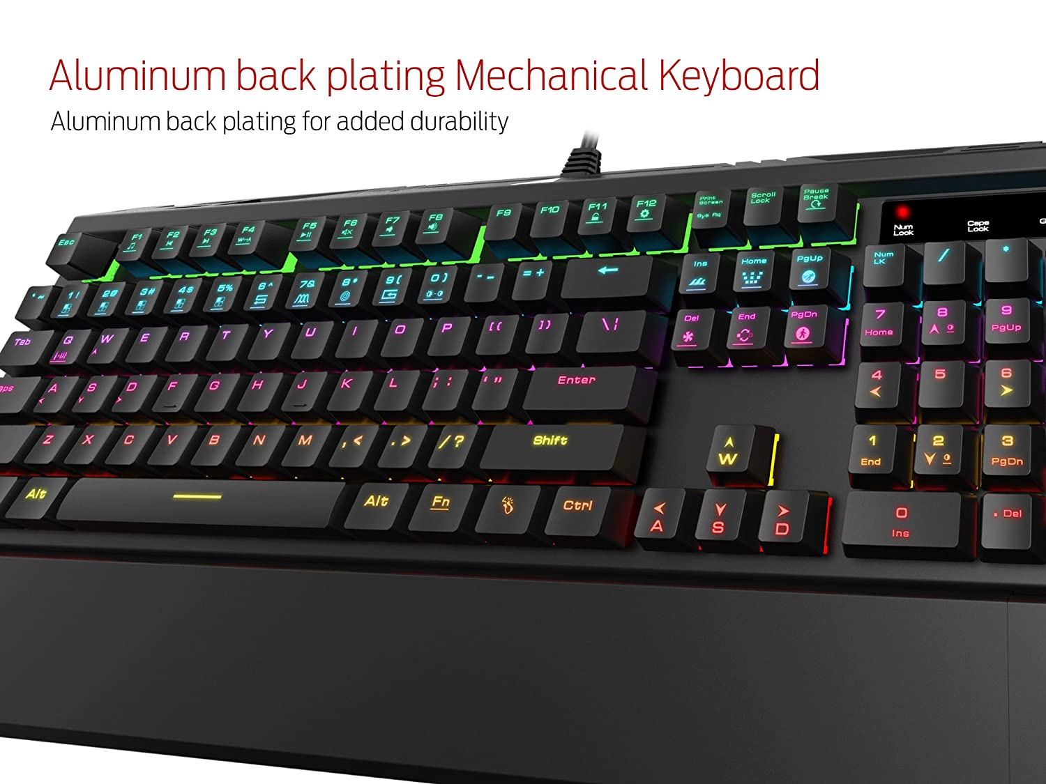 Gamdias Hermes 7 Color Backlit Rgb Gaming Mechanical Imperion Mech7 87keys Keyboard Blue Switch With 14 Sets Of Lighting Effects Anti Ghosting Multimedia Control