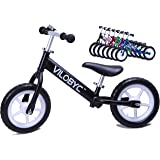 "12"" Anodised Aluminium Alloy Kids Push Ultralight Balance Bike (4.3 lbs) for Chirld 18month to 5years old Bicycle, By Vilobyc 2018"