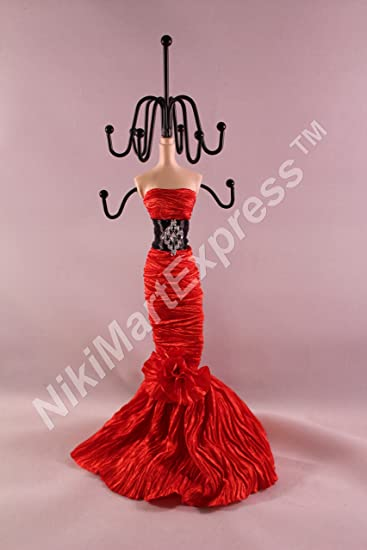 Amazoncom Red Dress Mannequin Jewelry Earring Necklace Stand