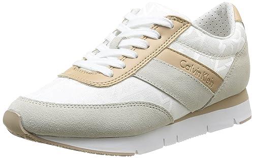 Calvin Klein Jeans Tea - Zapatillas de deporte de material sintético para mujer Blanco Blanc (Wnl) 36: Amazon.es: Zapatos y complementos