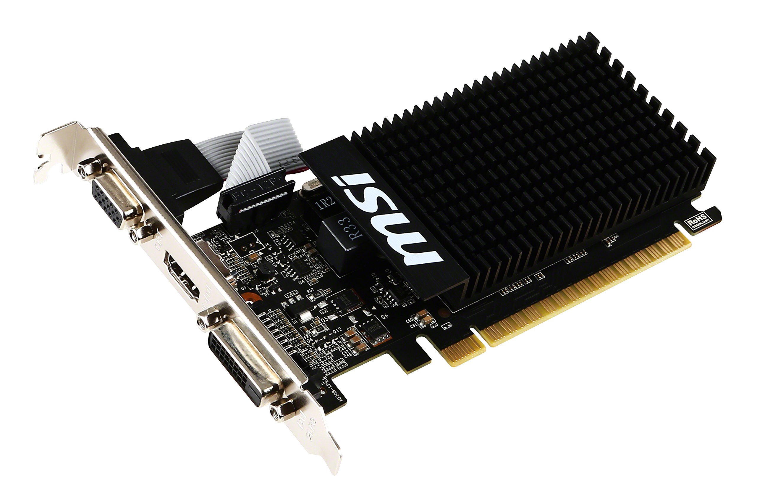 MSI GT 710 1GD3H LP NVIDIA GeForce GT 710 1GB by MSI (Image #1)