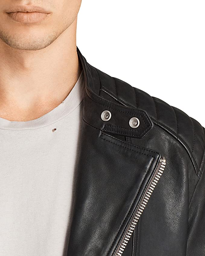 Amazon.com: DashX Reimer Biker 100% Pure - Chaqueta de piel ...
