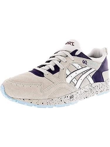 117544759 ASICS Women's Gel-Lyte V Soft Grey/White Ankle-High Leather Walking Shoe