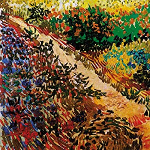 1art1 Vincent Van Gogh Poster Art Print - Blossoming Garden and Path, 1888, Detail (16 x 16 inches)