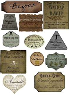 picture relating to Free Printable Halloween Apothecary Labels identify : Harry Potter Basic Apothecary Potion BLACK