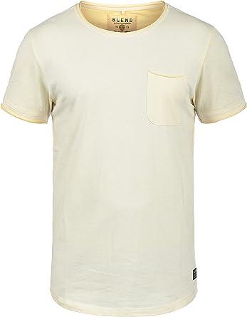 BLEND Justin - Camiseta para Hombre, tamaño:M, Color:Mellow Yellow (72510): Amazon.es: Ropa y accesorios