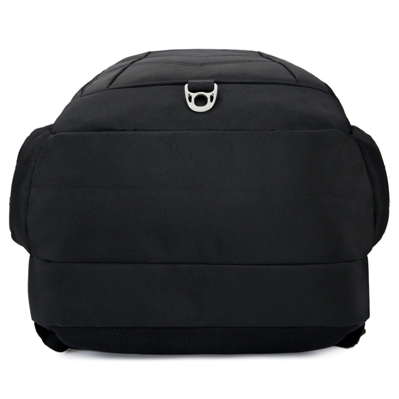 Sac /à dos ordinateur portable 17.3 pouces SOCKO Sac en Nylon de voyage durable imperm/éable Musette Sac de montagne Cartable de randonn/ée Etudiant-El/ève Sac /à dos Ordinateur Notebook Noir