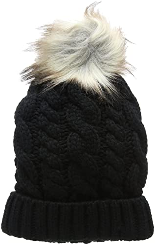 New Look Cable Faux Pom Bobble, Gorro de Punto para Mujer