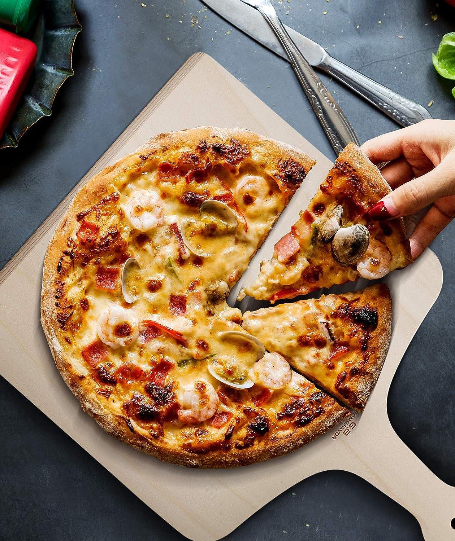 Pizzaheber f/ür Hausgemachte Pizza und Brot G.a HOMEFAVOR Pizzaschaufel Pizzaschieber aus Holz 42 x 30cm Brotschieber 3er Set