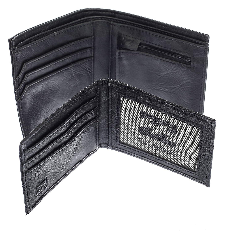 2 Billabong Bi-fold Carteras con bolsillos CC, Note y Coin ~ Bronson negro: Amazon.es: Equipaje