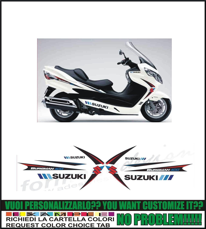 Kit Adesivi Decal Stikers Suzuki Burgman 400 Formanudesign New 2008 Problems Ability To Customize The Colors Auto E Moto