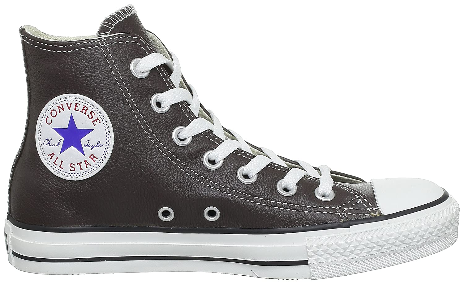 Converse Chuck Taylor All Star Leather High Top Sneaker B006OCAM56 4.5M B(M) US|Chocolate