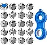 EFANTUR Filtro de Grifo Aireador Atomizador 20 unidades con la llave ingresa Pulverizador Economizador de boquillas 24 mm (M24) para cocina (ahorro de agua)