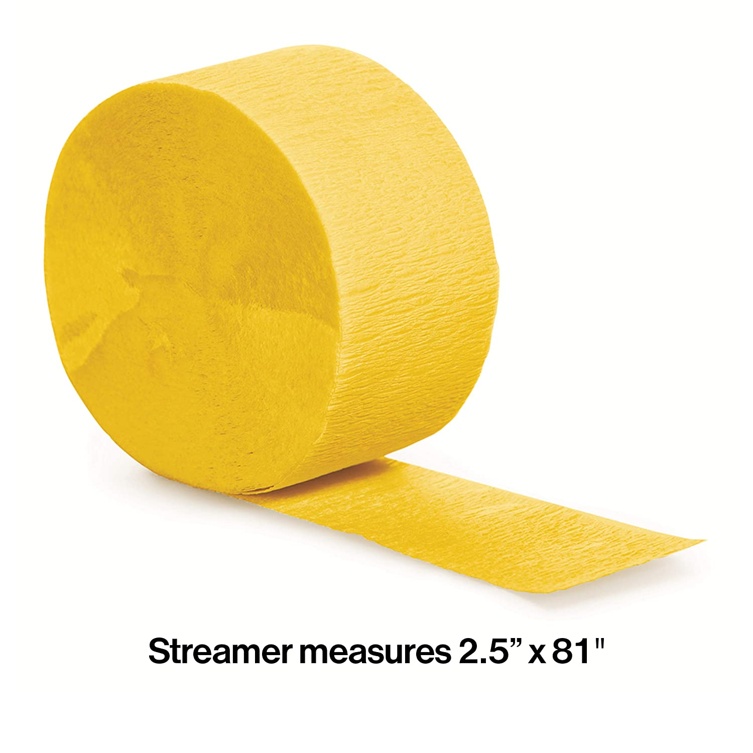078520 School Bus Yellow Creative Converting 12-Count Touch of Color Crepe Paper Streamer Rolls