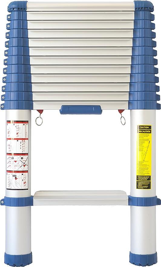 port/átiles y antideslizantes. Eaxus/® Escalera telesc/ópica multifunci/ón de aluminio plegable de 2,6 metros 9 pelda/ños extensibles