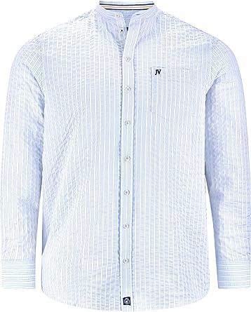 Jan Vanderstorm Camisa de manga larga para hombre Sillas (cuello alto, camisa de verano)