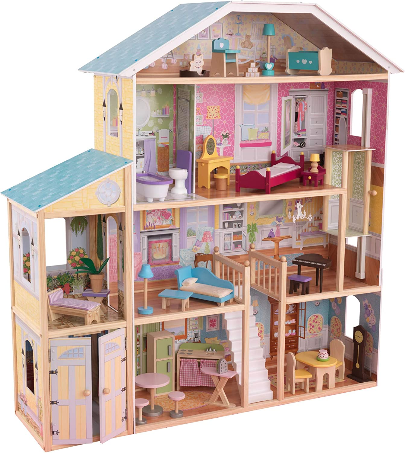 KidKraft 65252 Majestic Mansion Wooden Dolls House with Furniture and Accessories 45% OFF £119.99 @ Amazon