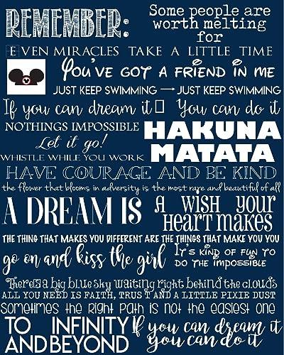 amazon com favorite disney quotes disney art canvas typography