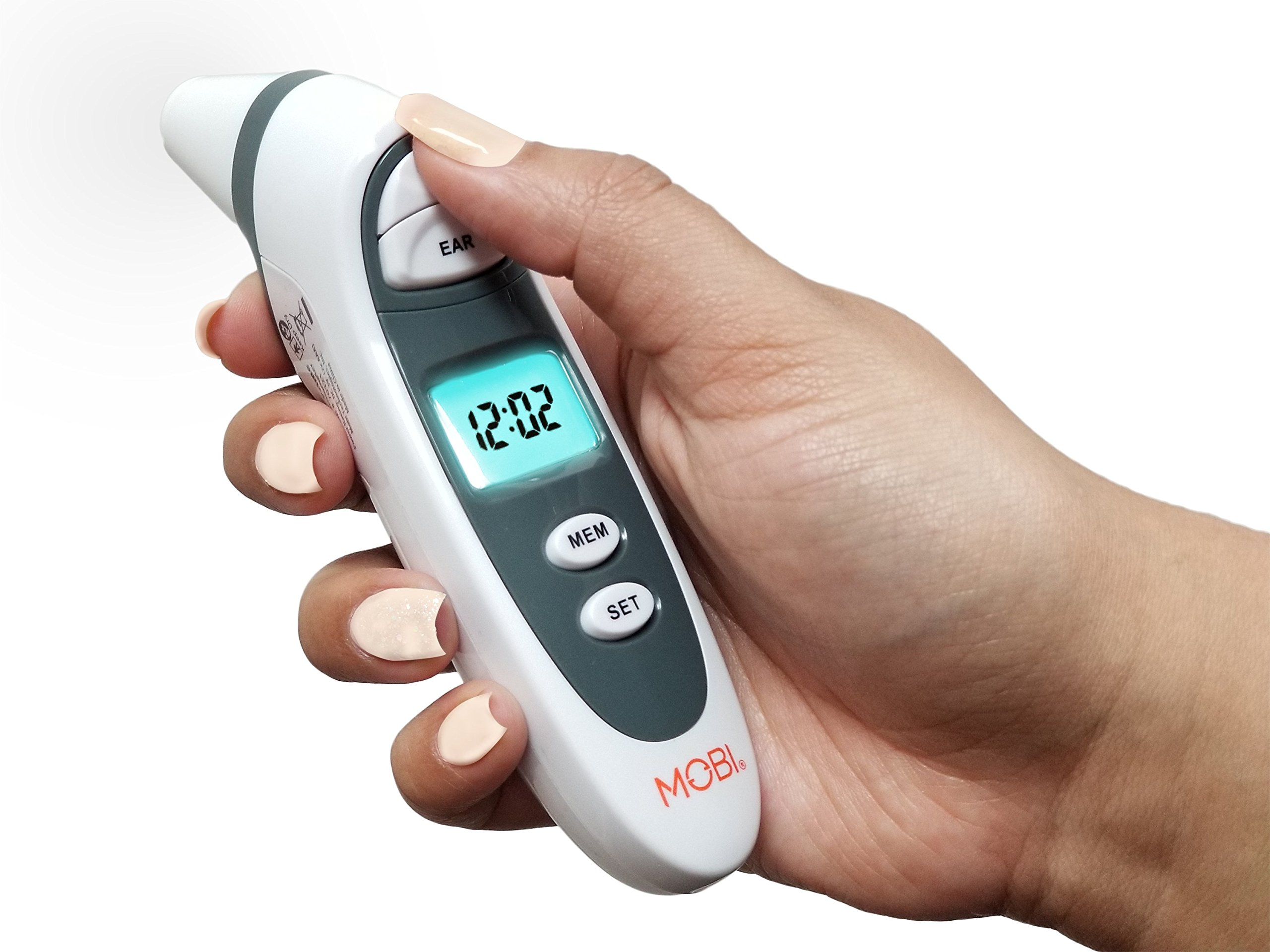 Mobi Dualscan Prime Ear & Forehead Thermometer With Food & Bottle Readings