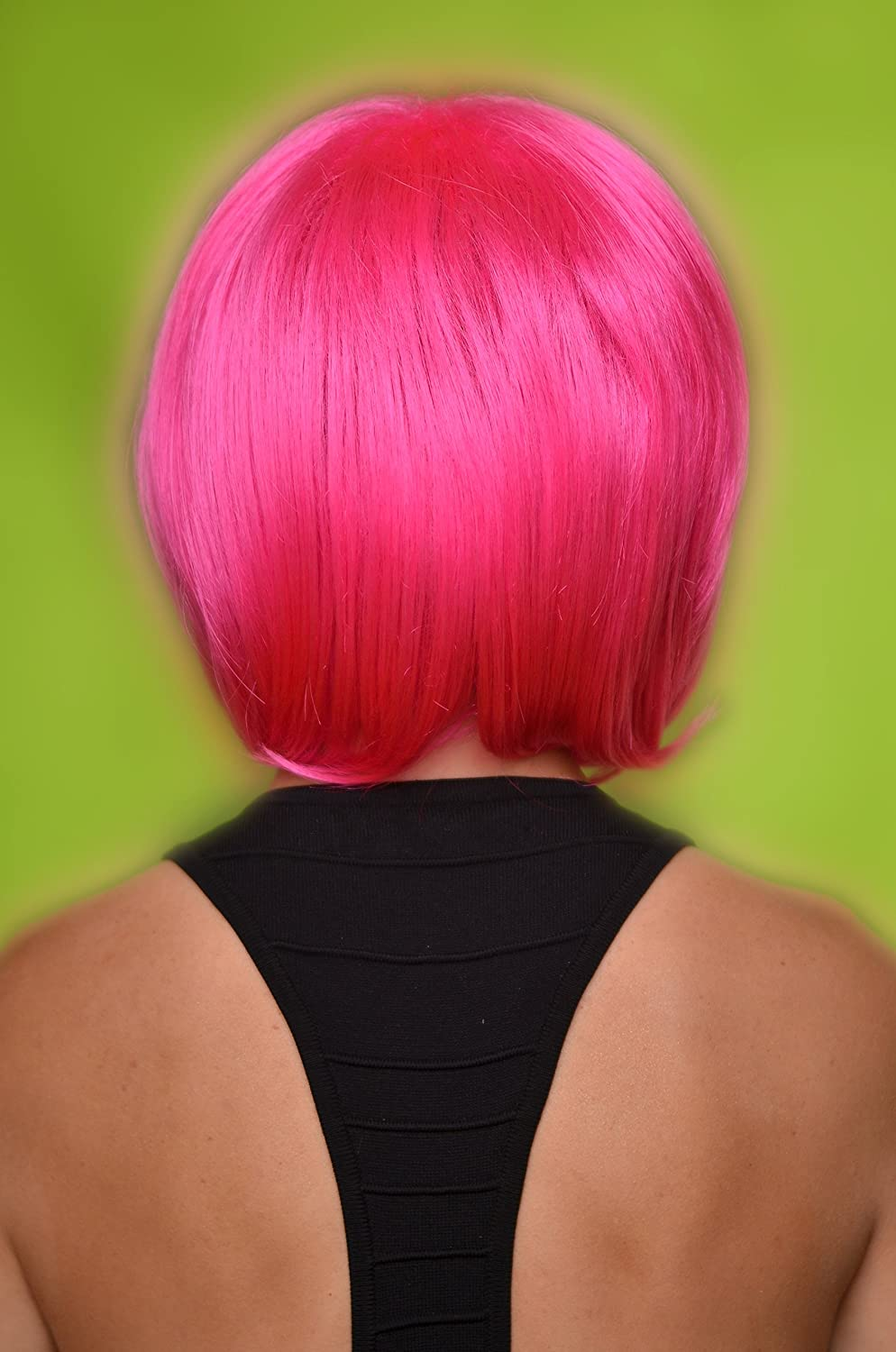 Amazon.com : Pink Wig - High Quality 100 % Kanekalon Synthetic Wigs for Women, Short Straight Style, Show Support for Breast Cancer Awareness : Hair ...