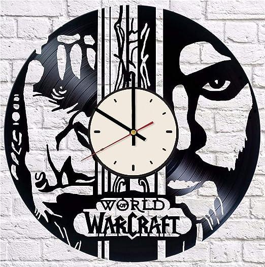 Amazon Com Video Game Vinyl Clock Mmorpg Fans Birthday Gifts Ideas Gamer Room Wall Decor Home Kitchen