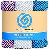 "Grounded Sport Ultra Lightweight Compact (12"" x 39"") Cooling Towel 3-Pack Microfiber Sport Towel for Women & Men, Workout, Fi"