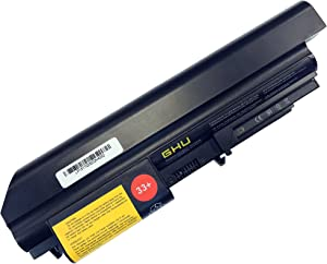 New GHU Battery 48 WH Replacement for 33+ 41U3198 43r2499 42t4531 Compatible with Lenovo Thinkpad T61 t61p R61 R61i R400 T400 14-inch 42T5263 42T5229 42T5227 42T5265 42T4552 42T5228 42T4530