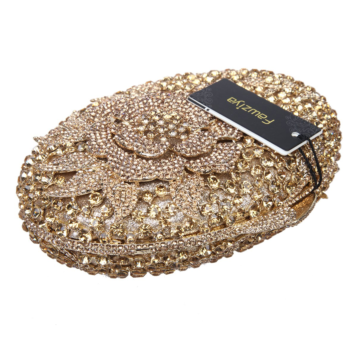 Amazon.com: fawziya Big Rhinestones Flor Embrague Monederos ...