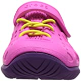 Crocs Kids' Swiftwater Play Shoe, Neon Magenta, 13