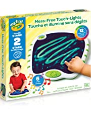 Crayola My First Touch Lights, Mess-Free Portable Drawing Board, , Art Supplies for Toddlers, for Girls and Boys, Gift for Boys and Girls, Kids, Ages 3, 4, 5,6 and Up,Summer Travel, Cottage, Camping, on-the-go,  Arts and Crafts,  Gifting