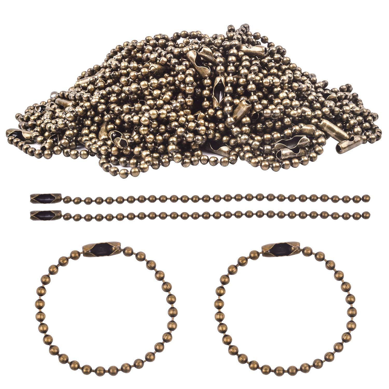 BronaGrand - Portachiavi con chiusura a sfera, 100 pezzi, diametro 2,4 mm, lunghezza 100 mm