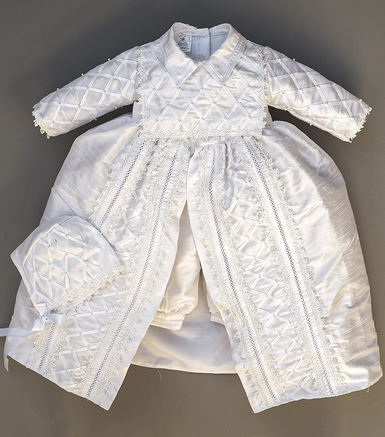 17e752d66c8a5e Amazon.com: Baby Boy Christening Gown, Spanish Style outfit (ropones para  bautizo). Baptism Outfit B001: Handmade