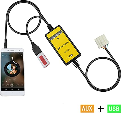 Aux Interface,Yomikoo USB/AUX Mp3 Player Adapter Car Digital Music on
