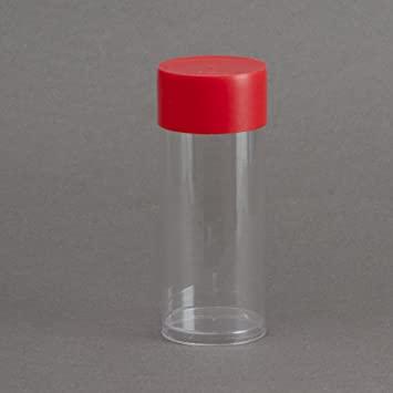 """Red Capsule Tube for all /""""T/"""" Direct Fit Air-Tite Coin Holders 5 Pack"""