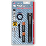 Maglite 迷你白炽 2 芯 AA 手电筒,黑色 M2A01C