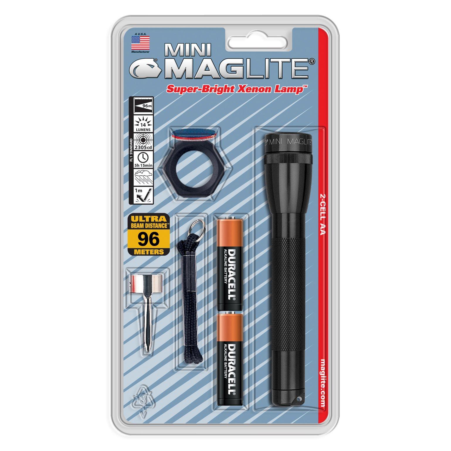 Linterna Maglite : Mini Incandescente 2-celdas Aa Combo Neg