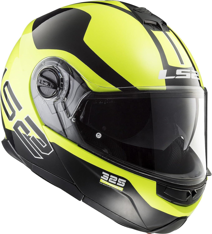 L Gelb//Schwarz LS2 Helm