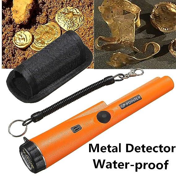 Qwhome Detector De Metales De Mano - Detector De Metales Portátil GP-Pointer Herramienta De Comprobación De Seguridad: Amazon.es: Jardín