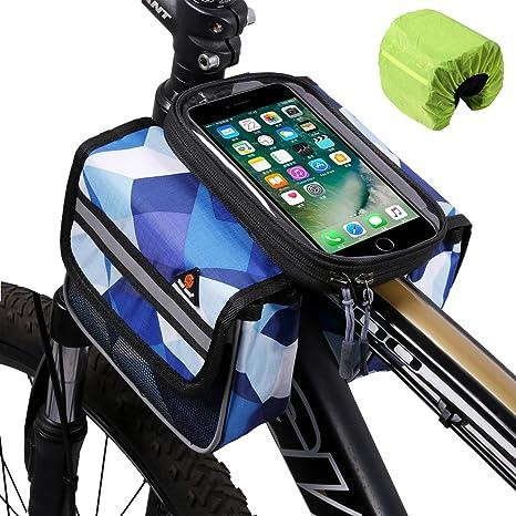Bolsa para teléfono para cuadro de bicicleta, alforja delantera de ...