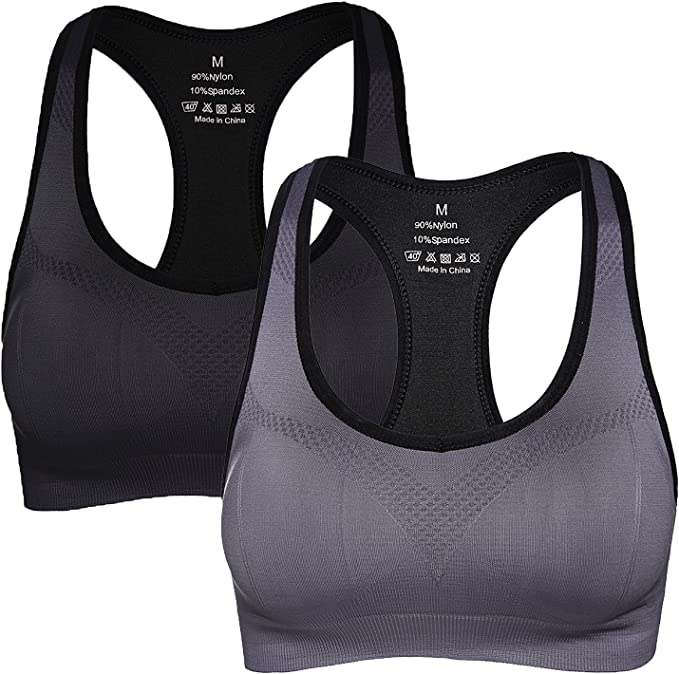 Women/'s Racerback Sports Bras High Impact Workout Gym Activewear Bra Breathable