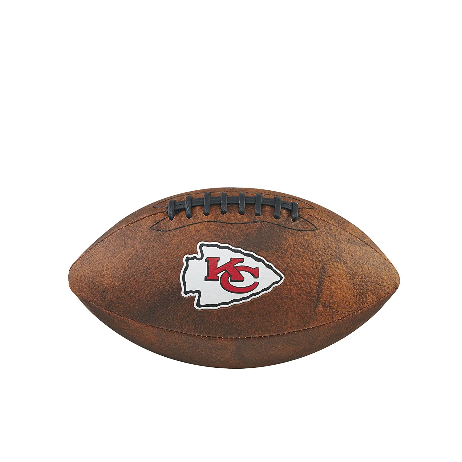Game Master NFL Kansas City Chiefs Junior Wilson Throwback Football, 11-Inch, Brown