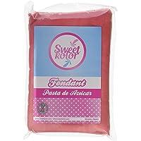 Sweetkolor Pasta de Azúcar Rosa - 4 Paquetes de 500 gr - Total: 2000 gr